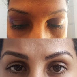 Confident Brows microblading before and after
