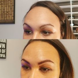view of woman well shaped eyebrows